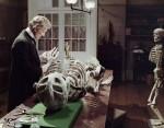 Il Prof. Hildern Esamina lo scheletro nel proprio studio.