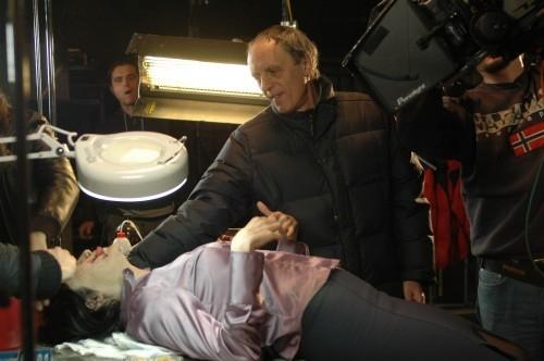 """Coralina Cataldi Tassoni  e Dario Argento sul set di """"La Terza Madre"""""""