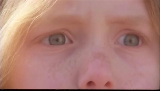 Gli occhi di Virginia, sbarrati dal terrore al momento della visione