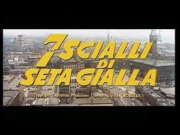 SETTE SCIALLI DI SETA GIALLA
