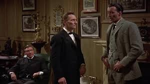 Da destra: Henry Baskerville, Holmes e Watson